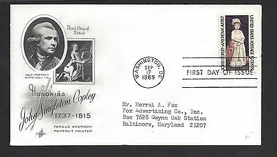 USA...FDC.. First Day of issue Cover... SC # 1273. Art Craft Cache
