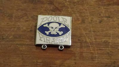 Poole Pirates----1980's----Speedway Badge----Silver Metal