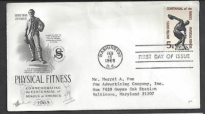 USA...FDC.. First Day of issue Cover... SC # 1262. Art Craft Cache ..