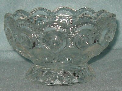 LE Smith Moon and Stars Clear Footed Dish