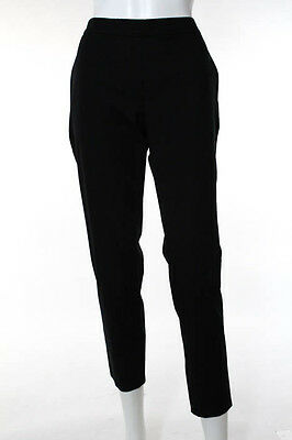Theory Black Flat Front High Waist Cropped Pants Size 4 NWT $275