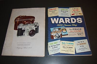 2 Montgomery Ward Camera Catalog Dated 1953 And 1959