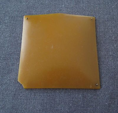 Vintage 40's Amber Colour Galalith  Plaque For Repurpose