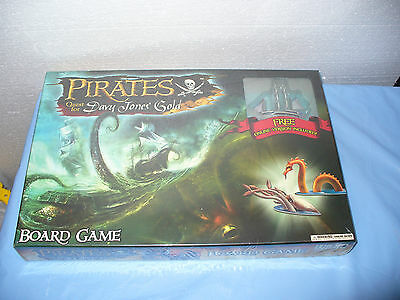 NEW Pirates Quest for Davy Jones Gold Boardgame FACTORY SEALED Board Game RARE