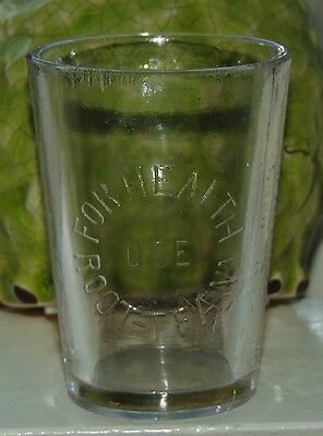 RARE ANTIQUE Glass DOSE CUP Medicine AKRON OH Advertisin ROOT-TEA-NA