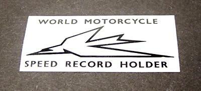 Tank top decal Triumph twin world motorcycle speed record holder decal sticker