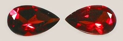 2 Antique 19thC Hand Cut 1ct Garnet Gem of Koran's Fourth Heaven Persian Royalty