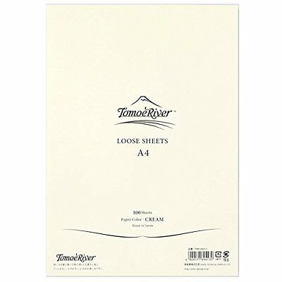 "Tomoe River FP Loose Sheet, 8.27 x 11.7"", 100 Sheets/Pack, Cream (TMR-A4P-Y) New"