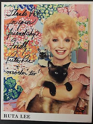 ACTRESS RUTA LEE AUTOGRAPH 8 x 10 PHOTO (Image on both sides with AUTOS on BOTH)