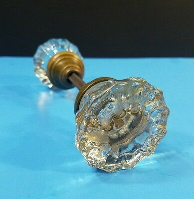 Set Of Vintage Glass Door Knobs Handles