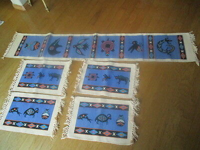 Southwest ? 5 PIECE TABLE RUNNER DINNER PLACEMAT  TABLE SET cotton