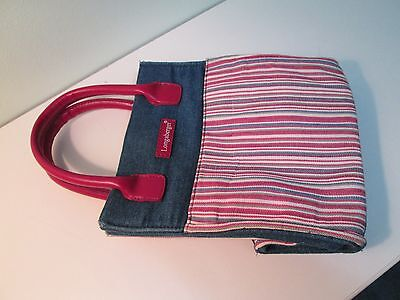 Longaberger Red, white, and blue stripe and denim purse or tote