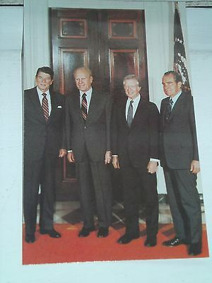 "Rare Postcard 1981   ""  4  American Presidents  "" White House"
