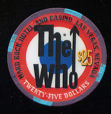 The Who @ The Hard Rock $25 Casino Chip  (C926)