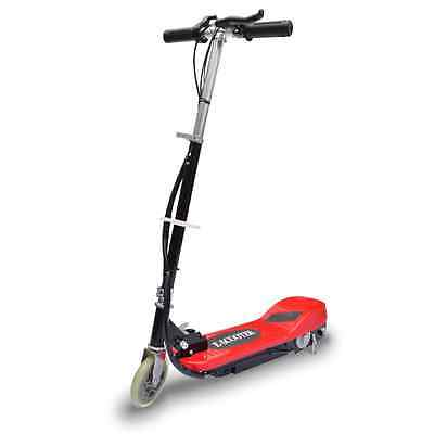 S# Red Electric Scooter Kids Children Portable Adjustable Mobility Toy 120W Moto