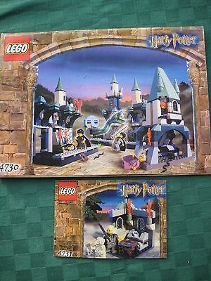 Lego Instruction Manuals Only Harry Potter 4730 Chamber Of Secrets 4731 Mint