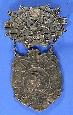 United States Delegate's Badge / Medal For State Firemans' Convention 1895 X8004