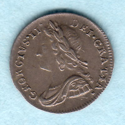 Great Britain. 1740 George 11 - Silver Penny..  Part Lustre..  EF