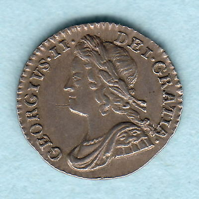 Great Britain. 1750 George 11 - Silver Penny..  Part Lustre..  EF
