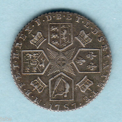 Great Britain. 1787 - George  111 Sixpence..   With Hearts..  gVF