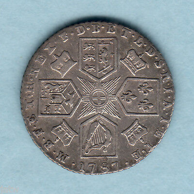 Great Britain. 1787 - George  111 Sixpence..   With Hearts..  aVF