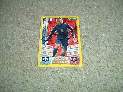 Yohan Cabaye - France - Signed Match Attax 2014 World Cup Trade Card