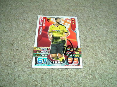 Miguel Britos - Watford - Signed 15/16 Match Attax Trade Card