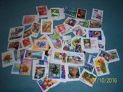 10g USED AUSTRALIAN STAMPS (8)