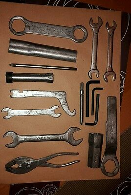 Yamaha RD350LC owners`s tool kit complete but has two none Yamaha spanners