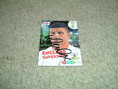 Kyle Walker - England - Signed Panini 2014 World Cup Trade Card