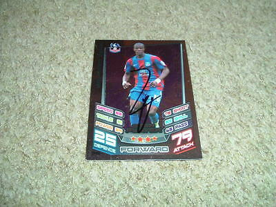 Wilfried Zaha - Crystal Palace - Signed 12/13 Match Attax Trade Card