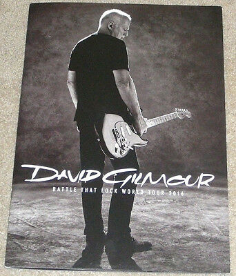 David Gilmour Of Pink Floyd 2016 World Solo Tour Program Book Rattle That Lock