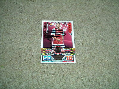 Andy Carroll - West Ham United - Signed 15/16 Match Attax Trade Card