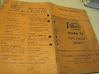 Villiers Mark 7F Two Stroke Engine Operating Instructions