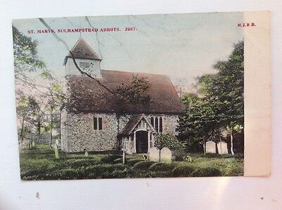 St Mary's Sulhamstead Abbots Berkshire  Postcard 1905