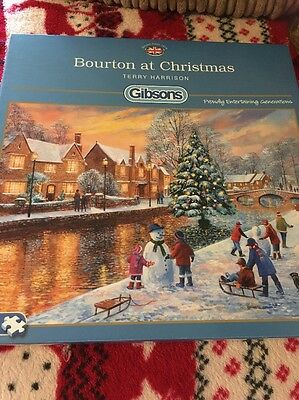 Gibsons Bourton At Christmas Jigsaw 500 Pieces