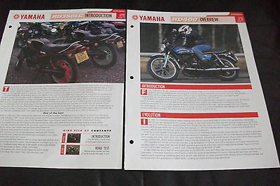YAMAHA RD350LC &  RD400 literature from essential superbikes