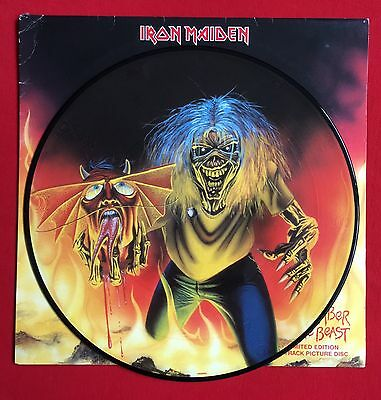 """IRON MAIDEN -The Number Of The Beast- Rare UK 12"""" Picture Disc (Vinyl Record)"""