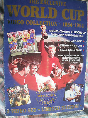 The Exclusive WORLD CUP Video Collection 1954-1994-VHS Boxed Set of 3 Tapes