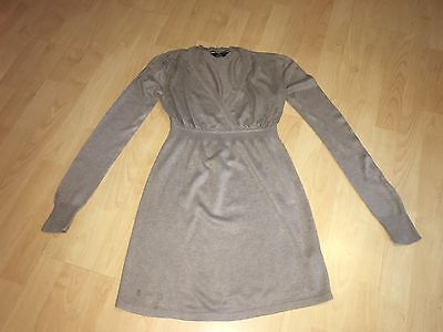 M2B MATERNITY Long Sleeved Oatmeal Smock Jumper 8 GREAT CONDITION