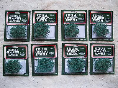 Christmas Green Wire Ornament Hooks Lot of 600