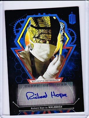 Doctor Who Extraterrestrial Encounters Autograph Richard Hope As Malohkeh 09/25