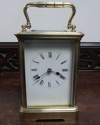 large brass cased carriage clock