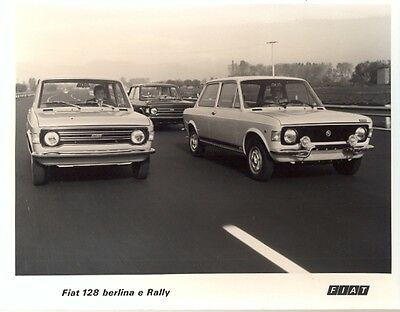 Fiat 128 Berlina & Rally original official press photo 1972