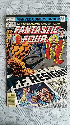 Fantastic Four  No.191  FEB  1978   FREE POSTAGE UK