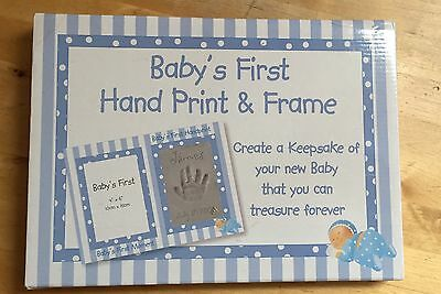 Baby's First Hand Print & Frame. New.