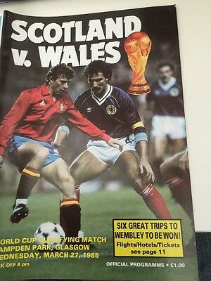 Scotland V Wales World Cup Qualifier March 27 1985