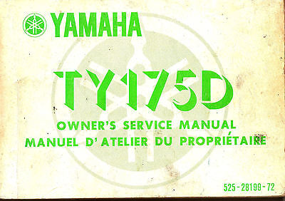 Yamaha Ty175 Trials Bike Manual,   Plus, Hints & Tips , Year 1917 , On Cd