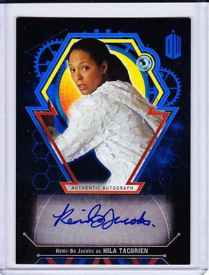 Doctor Who Extraterrestrial Encounters Autograph Kemi-Bo Jacobs As Hila 04/25