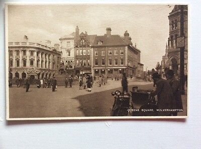 Queens Square Wolverhampton Staffordshire Postcard